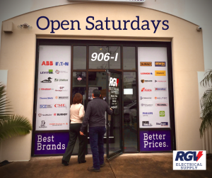 RGV Electrical Supply Open Saturdays